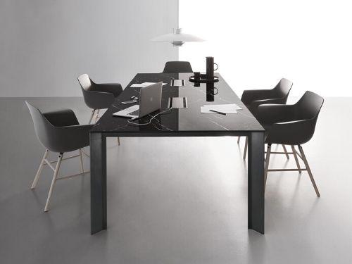 Scrivania direzionale da ufficio in stile contemporaneo con sedute di design