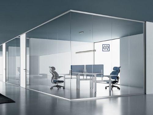 Render di pareti divisorie per ufficio moderno