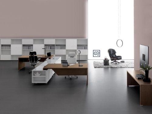 Render di un ufficio in stile moderno